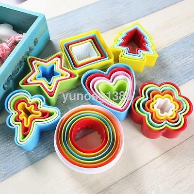 Plastic Fondant Cutter Cookie Scone Round/Square/Star Crinkle Edge Mold Mould UK