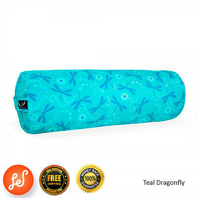 Organic Yoga Bolster Back Support Head Support Reading Bolster 75cm Dragonfly