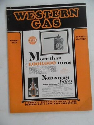 1930 WESTERN GAS Magazine Natural Gas Industry Trade Journal Pipeline Appliances