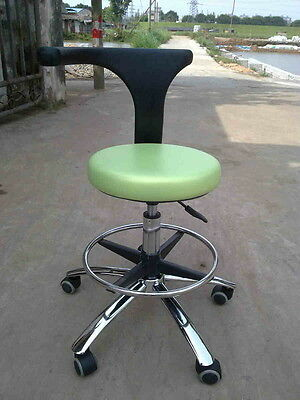 Dental Medical Office Stools Assistant's Stools Adjustable Mobile Chair PU Green