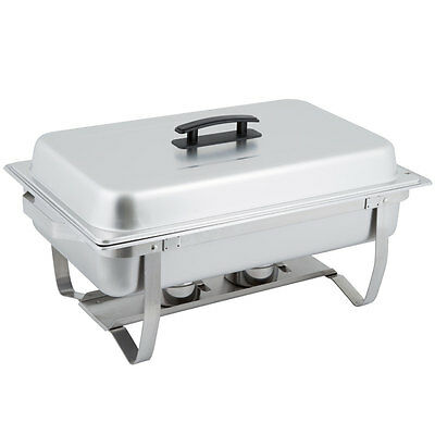6-Pack  Full Size 8 Qt. Stainless Steel Chafing Dishes with Folding Frames