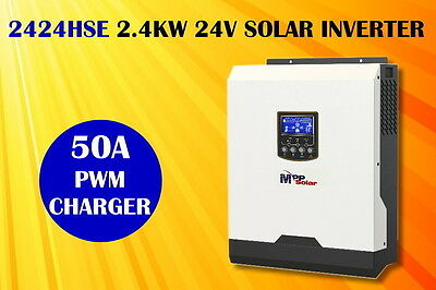 (HSE) 3kva 24v 2400w Solar inverter 50A solar charger + battery charger