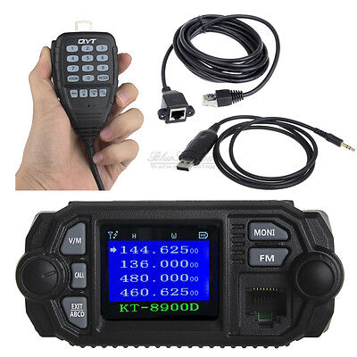 QYT KT-8900D Car Mobile Radio+USB Programme Cable+3m Microphone Extension Cable