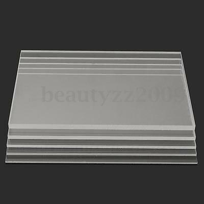 Clear Acrylic Perspex Sheet Cut to Size Panel Plastic Satin Gloss A2 A3 A4 A5 A6