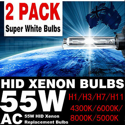 2x 55W HID Xenon HeadLight Lamp Bulbs Globe 4300K 6000K 8000K H1-H11 BRIGHT