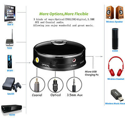 Bluetooth 4.0 Audio Transmitter Receiver for Smart TV XBOX PS4 Optical AUX LOT