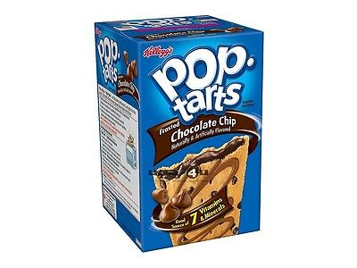 Kelloggs Pop Tarts Frosted Chocolate Chip 8 Toasties