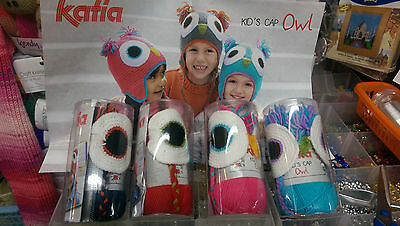 Katia Kid's owl Hat Crochet Kit