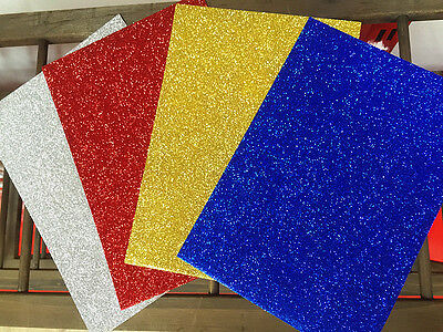 4 Sheets A5 Glitter Craft Paper Or031