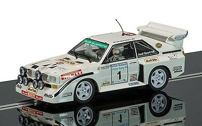 Scalextric 1:32 C3487 Audi Sport Quattro S1 1985 Rally Ulster Slot Car *new*
