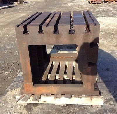 "T-Slotted Drilling Machine Workholding Block / Table / Box 30"" X 30"" X 36"""