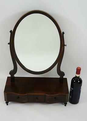 Late Victorian break front dressing table or toilet mirror, 3 drawers, - VGC