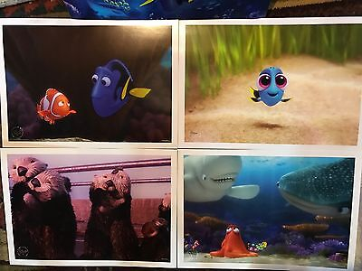 Walt Disney Store PIXAR FINDING DORY LITHOGRAPH SET Of 4 NEMO NEW In Folder