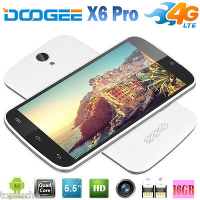 2/16GB 5.5'' Smartphone DOOGEE X6 PRO 4G LTE Teléfono Libre Android 5.1 Dual SIM