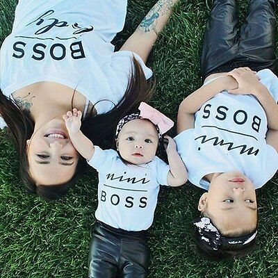 DADDY MOMMY Toddler Baby Boy Girl Family Matching Shirt Clothes Tee Tops T-shirt