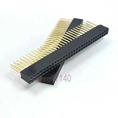 5pcs 2.54mm 2x30 60 pin Double Row Female stackable Straight Header socket Strip
