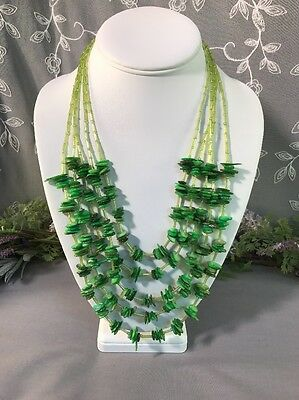 Stunning Vintage To Now Mother Of Pearl Beaded Necklace -- Estate