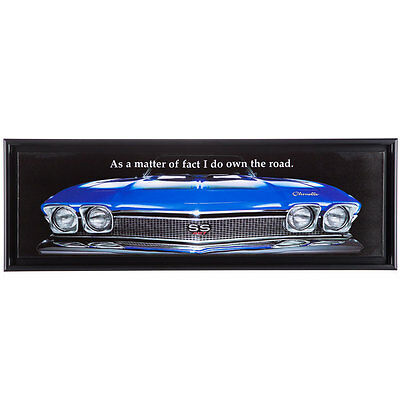Blue Classic Chevrolet Chevelle SS 427 Stretched Canvas (CHEVY SIGN)   LAST ONE!