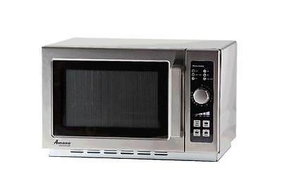 Amana RCS10DSE, Countertop Medium Duty Microwave Oven, 1000 watts, NEW