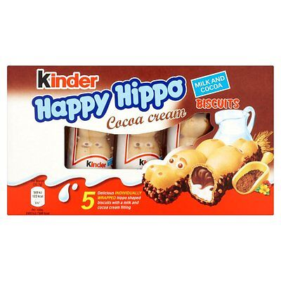 KINDER HAPPY HIPPO CHOCOLATE BISCUIT BARS - 30 Bars Bargain Price