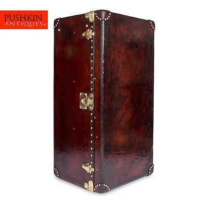 ANTIQUE 20thC LOUIS VUITTON CUSTOM ORDER LEATHER WARDROBE TRUNK c.1900