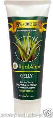 New Real Aloe Inc Gelly Unscented Gluten Free Dry Cracked Skin Burns Irritation