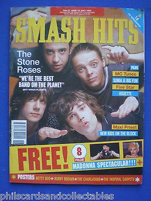 Smash Hits - 27th June 1990 - The Stone Roses, Roxette, Madonna, Maxi Priest