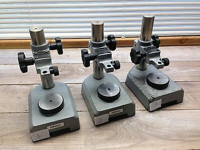 Nice Mitutoyo No. 7008 Dial Indicator Fine Adjust Comparator Stand