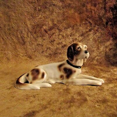 Vintage English Pointer Figurine/Made In Germany/Marked