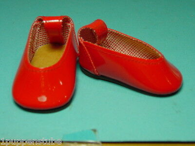 PK241/ Rote Puppenschuhe 6,3 cm.