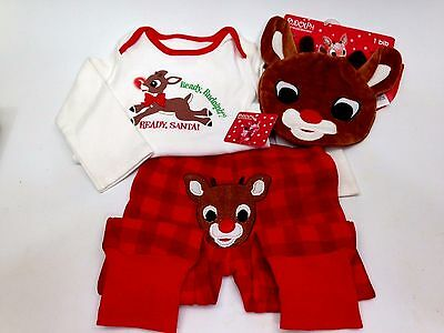Rudolf Red Nose Reindeer Set. 9 mo.with tags