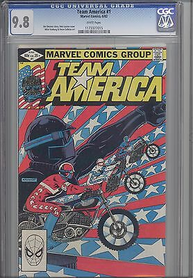 Team America #1 CGC 9.8 1982 Marvel Comic with Bob Layton Cover