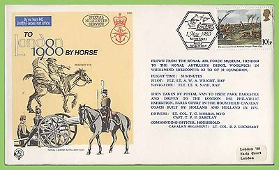 G.B. 1980 RAF Flown, To London 80' by Horse commemorative cover