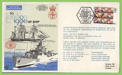 G.B. 1980 RAF Flown, To London 80' by Ship commemorative cover