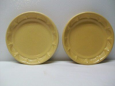 Robinson Ransbottom Yellow Pottery Plates or Bowls or Planter Bottoms