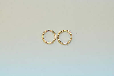 2 pieces 14K solid gold 8 mm split rings