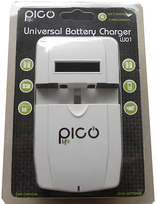 UNIVERSAL CAMERA BATTERY CHARGER with LCD screen / USB port