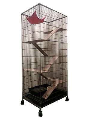 146 cm 5 Levels Bird Parrot Cage Aviary Ferret Cat Budgie Hamster House