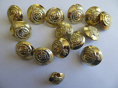 Vintage Australian Army RAASC buttons, made by Stokes Melbourne