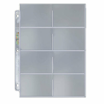 Ultra Pro Platinum 3 Hole 8 Pocket Pages x 10 for Telephone Cards, Carded Coins