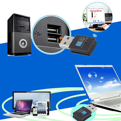 300Mbps USB Wireless WiFi Lan Network Receiver Card Adapter For Desktop PC FT