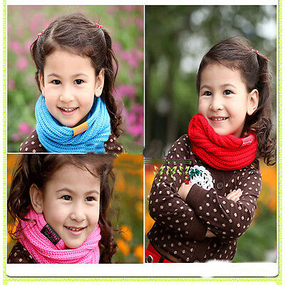 Boy & Girl Winter Baby Kids Warm Scarf Wrap Knitted Wool Neck Scarves Xmas Gift