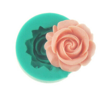 3D Rose Fondant Cake Chocolate Sugarcraft Mold Mould Cutter Silicone Tool