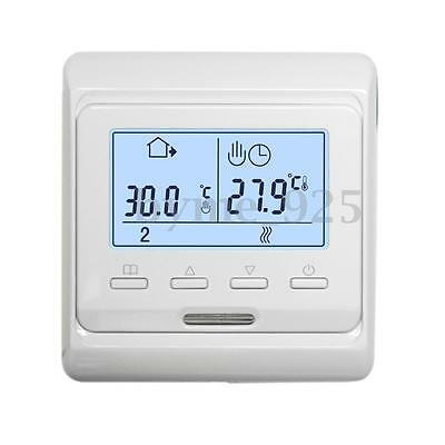 AC 230V 2W Digital LCD Display Programmable Floor Heating Thermostat Controler