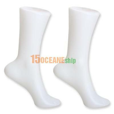 2pcs Female Foot Sock Sox Shoes Store Display Mold Short Stocking Mannequin Tool