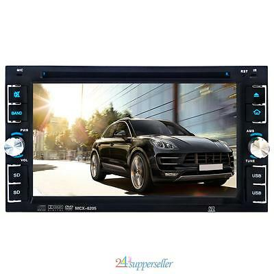 "Double 2 Din 6.2"" Car Stereo DVD CD MP3 Player HD In Dash Bluetooth Radio+Camera"