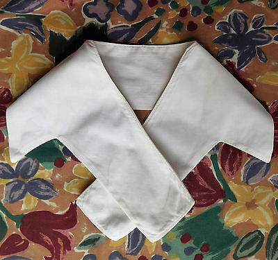 Vintage white collar for sailor suit or cardigan Cotton repp 1950s 1960s 1970s