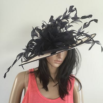 Nigel Rayment Ivory Navy Wedding Formal Occasion Hat Mother Of The Bride