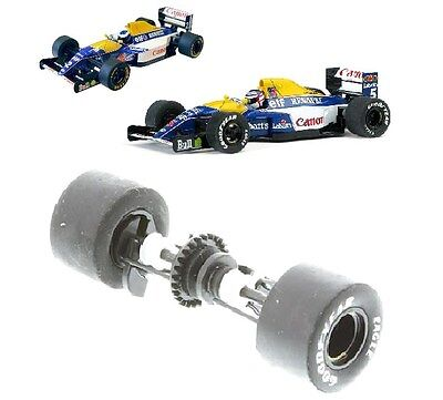 Scalextric W9899 Rear Axle Wheels Bearings & Tyres Williams F1 C2971 C2971 C3094