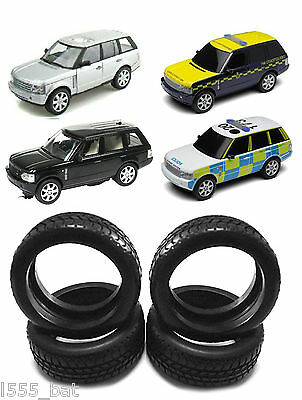 New Scalextric W9472 Tyres 4 Pack For Range Rover Inc Police & Drift All Model